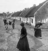 Poor People Prints - Irish Street Scene - Fairhead Ireland - c 1902 Print by International  Images