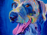Dawgart Prints - Irish Terrier - Lizzy Print by Alicia VanNoy Call