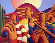 Session Musician Prints - Irish Trad.Session Print by Alan Kenny