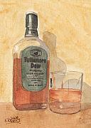 Liquid Painting Prints - Irish Whiskey Print by Ken Powers