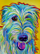 Alicia Vannoy Call Painting Framed Prints - Irish Wolfhound - Angus Framed Print by Alicia VanNoy Call