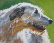 Pets Paintings - Irish Wolfhound Beauty by L A Shepard