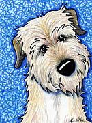 Kim Drawings Framed Prints - Irish Wolfhound Framed Print by Kim Niles