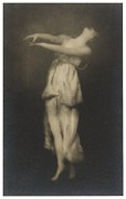 Dancer Photo Framed Prints - Irma Duncan Framed Print by Arnold Genthe