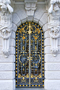 Castle Gates Framed Prints - Iron and goldleaf Framed Print by Anthony Citro