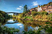 Town Digital Art Prints - Iron Bridge 1779 Print by Adrian Evans