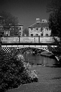 Buxton Posters - iron bridge in the pavilion gardens Buxton Derbyshire England UK Poster by Joe Fox
