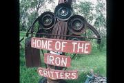 Abstract Realist Landscape Art - Iron Critter by The Signs of the times Collection