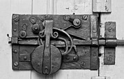 Old Door Photos - Iron Door Lock by Heiko Koehrer-Wagner