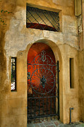 Gate Prints Prints - Iron Gate and Stucco Wall Print by Steven Ainsworth