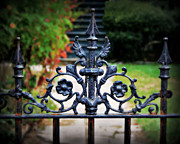 Fleur De Lis Art - Iron Gate by Perry Webster