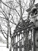Winter Scenes Digital Art Prints - Iron Gate Print by Reb Frost