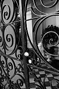 Black And White Prints Originals - Iron Gate by Wendy Mogul
