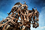 Equine Sculpture Photo Prints - Iron Horse Print by Matt Hanson