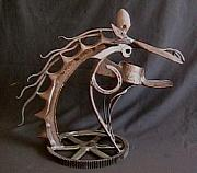 Iron  Sculpture Originals - Iron Horse by Thomas Elfers