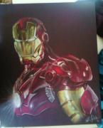 Iron  Pastels - Iron Man by Ashley Jahnke