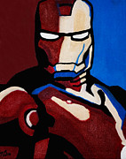 Head Shot Painting Prints - Iron Man Print by Barbara McMahon