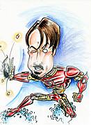 Ironman Drawings - Iron Man by Big Mike Roate