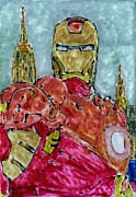 Iron Man Painting Originals - Iron Man by Phil Strang