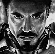 Robert Downey Jr. Prints - Iron Man Print by Rick Fortson