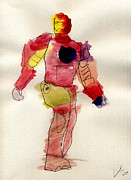 Iron Man Painting Originals - Iron man by Vincent Gitto