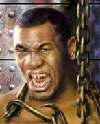 African American Male Paintings - Iron Mike Tyson-No Blood No Glory 1a by Reggie Duffie