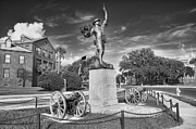 Clouds Trees Art - Iron Mke Statue - Parris Island by Scott Hansen