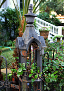 Fleur De Lis Art - Iron Post by Perry Webster