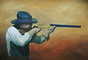 Rifle Painting Originals - Iron Sights by Leslie Bookout