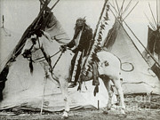 Sioux Photos - Iron Tail, Sioux Chief, Early 1900s by Photo Researchers