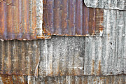 Galvanize Metal Prints - Iron weathering a variety of wall Metal Print by Chavalit Kamolthamanon