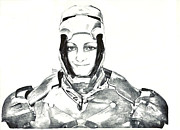 Iron Woman Print by Benjamin McDaniel