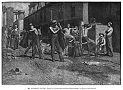 Lunch Time Framed Prints - Iron Workers, 1884 Framed Print by Granger