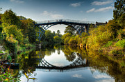 Riverbank Prints - Ironbridge Print by Adrian Evans