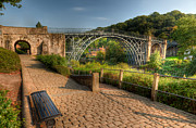 Riverbank Prints - Ironbridge England Print by Adrian Evans