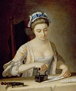 Housework Prints - Ironing Print by Henry Robert Morland