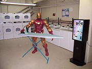 Iron Man Digital Art - Ironing Man by Gregory Atkins