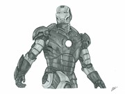Ironman Drawings - Ironman by Rich Colvin