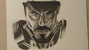 Ironman Drawings - IronMan by Shawn Brooks
