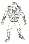 Ironman Drawings - Ironman War Machine by Kartikeya Mishra