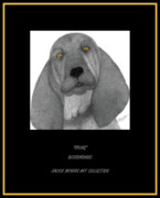 Bloodhounds Prints - Irving Print by Jackie Meyers