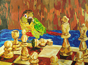 Chess Queen Painting Posters - Is It My Move Poster by Steve Teets