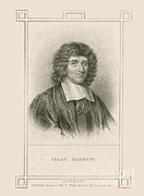 Isaac Framed Prints - Isaac Barrow, English Mathematician Framed Print by Science Source