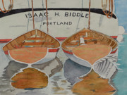 Row Boat Drawings Prints - Isaac H. Biddle Print by John Edebohls