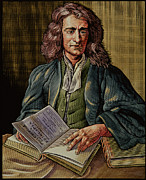 Mathematician Prints - Isaac Newton Print by Bill Sanderson