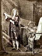 Isaac Newton, Ray Of Light Print by Science Source