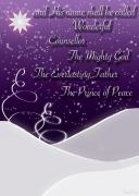 Snow Trees Posters - Isaiah Chapter 9 Verse 6 Christmas Card Poster by Lisa Knechtel