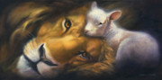Lion Oil Paintings - Isaiah by Charice Cooper