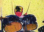 Drummer Metal Prints - Isaiah the Drummer Metal Print by Deborah MacQuarrie