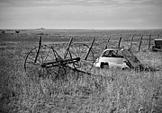 Best Sellers Prints - Isetta and Hay Rake Print by Melany Sarafis